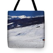 Red Barn Tote Bag by Skip Hunt