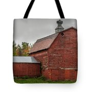 Red Barn With Fall Colors Tote Bag