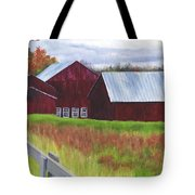 Red Barns At Freehold Tote Bag
