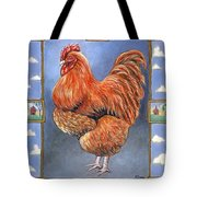Red Baron Rooster Tote Bag
