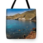 Red Beach Santorini Tote Bag