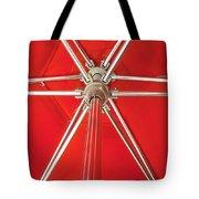 Red Beach Umbrella Tote Bag