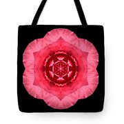 Red Begonia I Flower Mandala Tote Bag