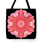 Red Begonia II Flower Mandala Tote Bag