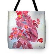 Red Begonias Tote Bag