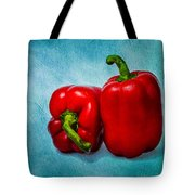 Red Bell Peppers Tote Bag