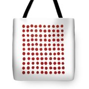 Red Berries In A Grid Tote Bag