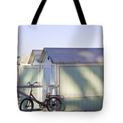 Red Bicycle At Mondello Beach Tote Bag