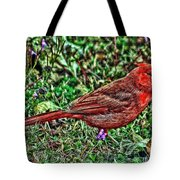 Red Bird Art Tote Bag