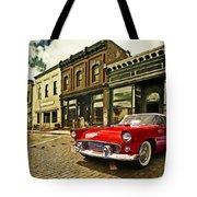 Red Bird On Main Street Tote Bag
