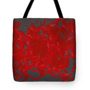 Red Black White Expressions Scramble  Black Red Tote Bag