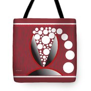 Red Black White Expressions Sparkling Wine Tote Bag