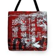 Red Black White Tote Bag