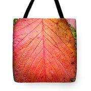 Red Blackberry Leaf Tote Bag