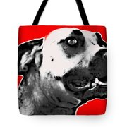 Red Blooded Scooby Dog Tote Bag