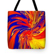 Red Blue Orange Red Yellow Swirl Tote Bag