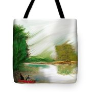 Red Boat Tote Bag