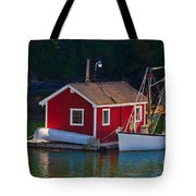 Red Boat House Tote Bag
