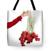 Red Bouquet Tote Bag