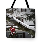 Red Bow Candle Light Tote Bag
