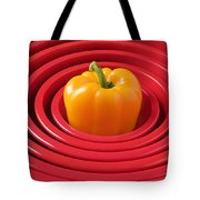 Red Bowls And Pepper Tote Bag