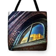 Red Brick Reflection Tote Bag by Natasha Marco