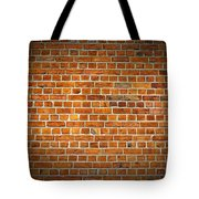 Red Brick Wall Texture With Vignette Tote Bag