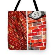 Red Bricks Tote Bag