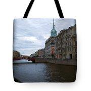 Red Bridge View - St. Petersburg - Russia Tote Bag