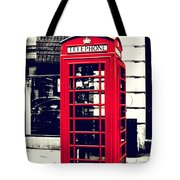 Red British Telephone Booth Tote Bag