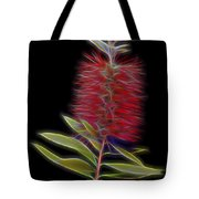 Red Brush Glow Tote Bag