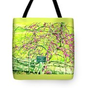 Red Bud Cascade Tote Bag