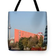 Red Building And Alex Tote Bag