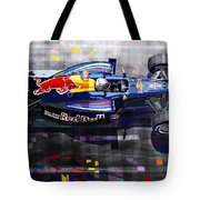 Red Bull Rb6 Vettel 2010 Tote Bag by Yuriy  Shevchuk