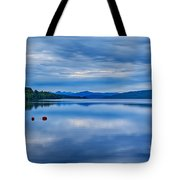 Red Buoys On Loch Rannoch Tote Bag