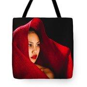 Red Burlap Tote Bag