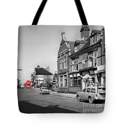 Red Bus And Red Telephone Box - 1960's    Ref-124-2 Tote Bag