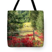 Red Bushes Tote Bag
