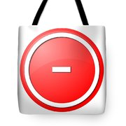 Red  Button Minus Tote Bag