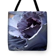 Red Cabbage Abstract Tote Bag