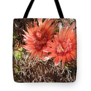Red Cactus Tote Bag