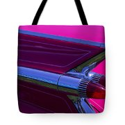 Red Caddy Tail Lights Tote Bag
