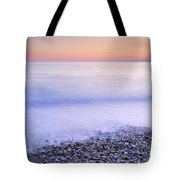 Red Calm At The Beach Tote Bag