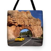 Red Canyon Near Bryce Canyon In Utah Tote Bag