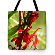 Red Cardinal Flower Tote Bag