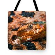 Red Carolina Pygmy Rattlesnake Tote Bag