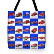 Red Cars Of America Tote Bag