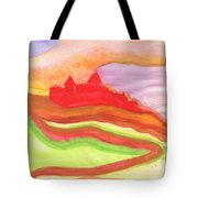 Red Castle Tote Bag