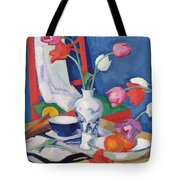 Red Chair And Tulips, C.1919 Tote Bag