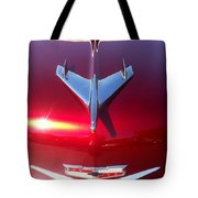 Red Chevy Car Hood  Tote Bag